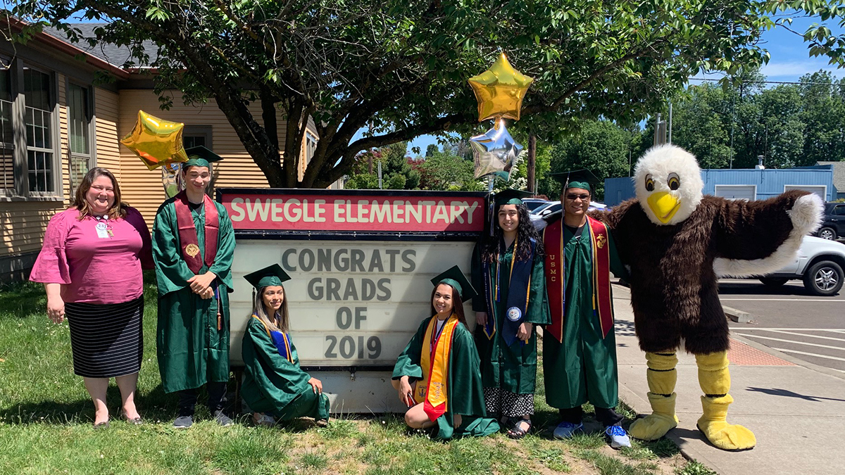 McKay Seniors Visit Swegle for Parade of Honor 2019